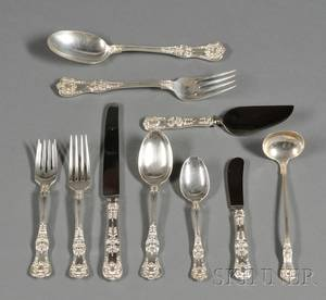 Tiffany  Co Sterling English King Flatware Service
