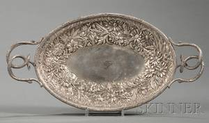 Small S Kirk  Son Silver Repousse Bready Tray