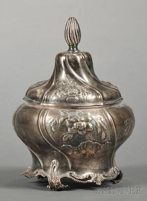 Dutch 833 Silver Covered Bowl