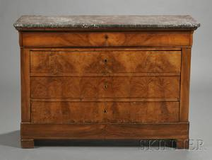 Louis Philippe Marbletop Mahogany Chest of Drawers