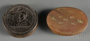 Two Horn Snuff Boxes