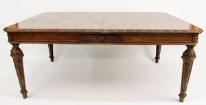 Walnut Renaissance Revival Style Dining Table