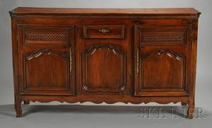 French Provincial Fruitwood Sideboard
