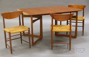 John Stuart Dining Table And Three Chairs