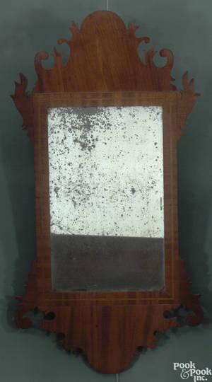 American Chippendale mahogany mirror ca 1795