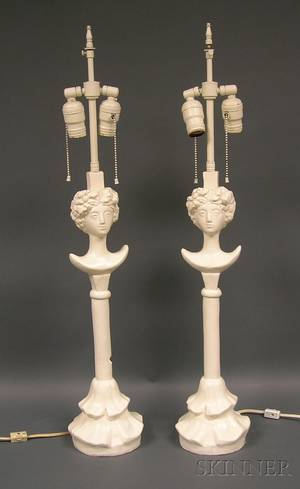 Pair of Figural Table Lamps