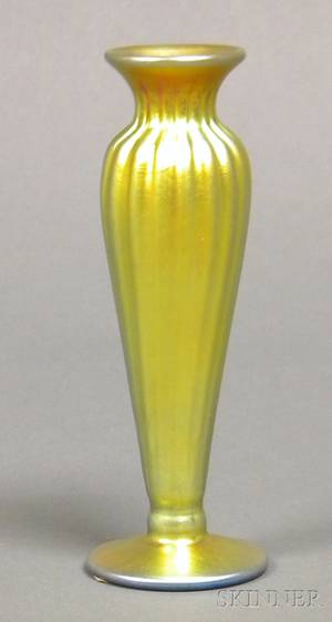 Gold Iridescent Small Vase