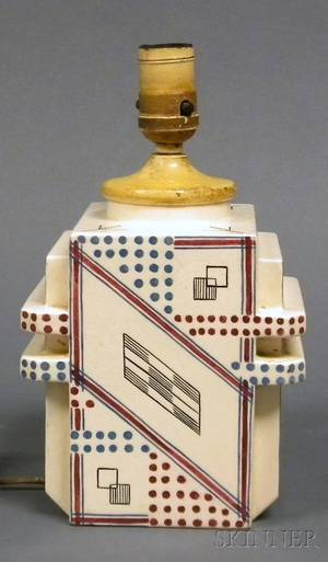 Robert Lallemant Art Deco Table Lamp