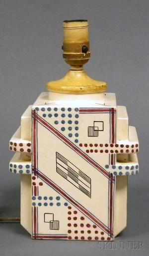 Robert Lallemant Art Deco Table Lamp