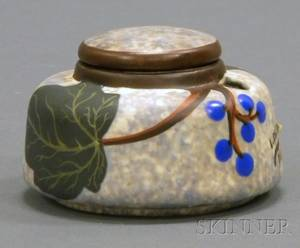 Louis Dage Art Deco Pottery Inkwell
