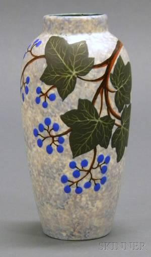 Louis Dage Art Deco Pottery Vase