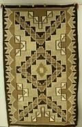 Brown Grey Tan and White Navajo Weaving