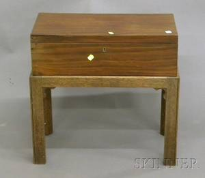 Chippendalestyle Mahogany Lap Desk on Stand