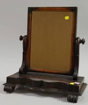 Classical Mahogany and Fruitwood Veneer Dressing Mirror