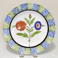 Blue and green rainbow spatter plate 19th c
