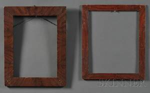 Two Grainpainted Pine Frames