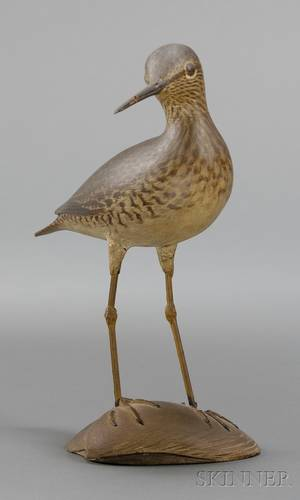 Crowell Carved and Painted Yellowlegs Mantel Figure