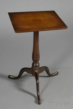 Federal Cherry Inlaid Candlestand