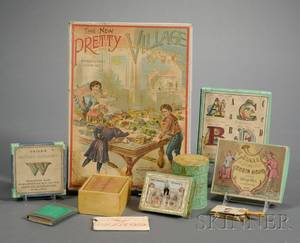 Ten Boxed Victorian Lithographed Childrens Game Items