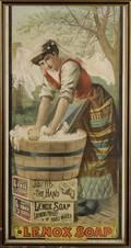 Framed LENOX SOAP Chromolithograph Poster
