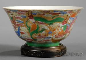 Chinese Porcelain Bowl with Dragon Motifs