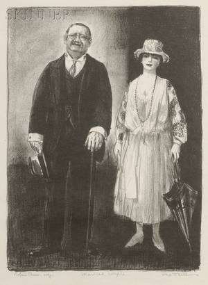 George Wesley Bellows American 18821925 Married Couple