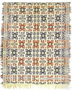 York County Pennsylvania jacquard coverlet dated 1839