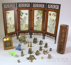 Group of Small Asian and Miscellaneous Decorative Items