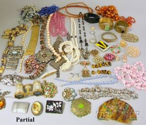 Large Group of Beads and Assorted Costume Jewelry