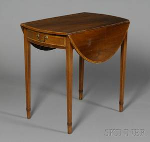 George III Crossbanded Mahogany Pembroke Table