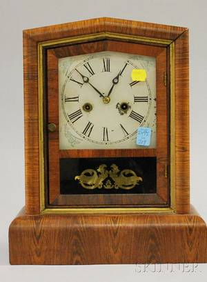 Rosewood Veneer Shelf Clock by Welch Spring and Company
