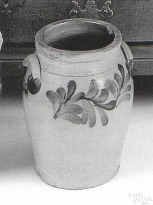 Pennsylvania stoneware crock mid 19th c