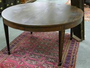 Regencystyle Round Inlaid Mahogany and Mahogany Veneer Dining Table