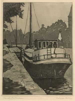 Kalman Kubinyi American 19061973 Canal Rotterdam