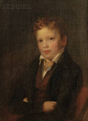 American School 19th Century Portrait of John Foster Williams Lane as a Boy