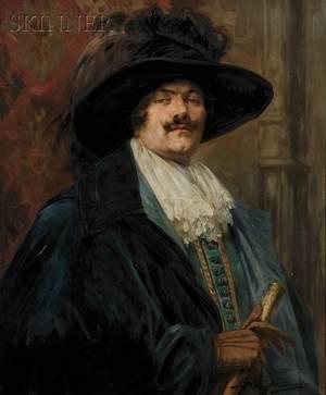 Alex de Andreis British 18801929 Portrait of a Cavalier