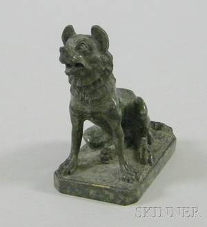 Grand Tour Carved Marble Canine