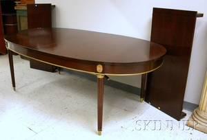 Louis XVI Style Ormolumounted Inlaid Mahogany and Mahogany Veneer Dining Table