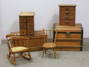 Six Pieces of Small Furniture and Accessories