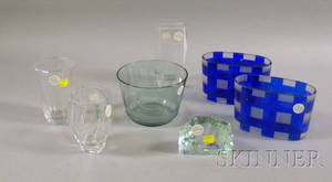 Seven Pieces of Continental Art Glass