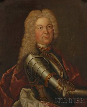 Continental School 18th Century Style Portrait of a Gentleman in Armor
