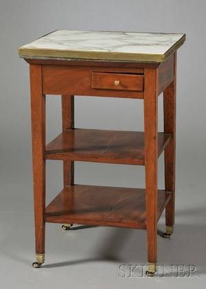 French Directoirestyle Mahogany Marbletop Washstand