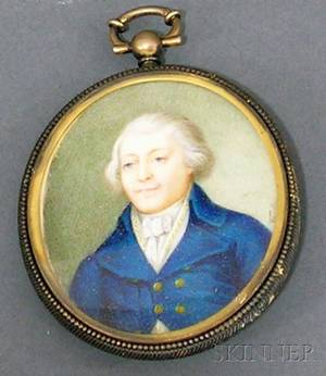 Continental Portrait Miniature of a Gentleman