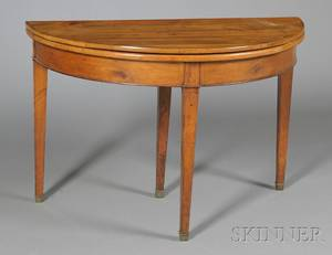 Continental Demilune Fruitwood Supper Table