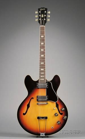 American Electric Guitar Gibson Incorporated Kalamazoo c 1969 Model ES335TD