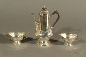 ThreePiece Richard Dimes Company Sterling Queen Anne Demitasse Set