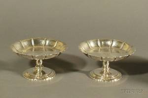 Pair of Richard Dimes Company Sterling Irish Reproduction Tazzae