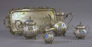 FivePiece Wilcox International Silver Plated Tea and Coffee Set