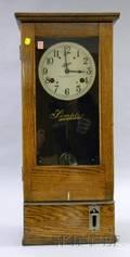 Oak Simplex Time Clock