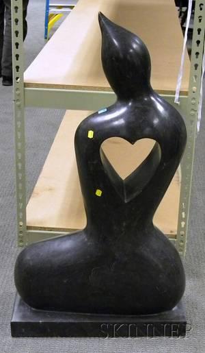 Modern Carved Marble Figural Sculpture